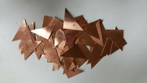 COPPER TRIANGLES VARIOUS THICKNESSES  5 POUND BOX