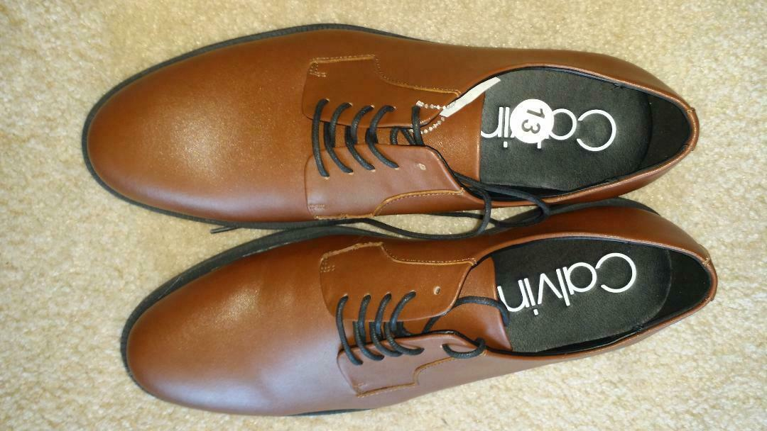 Calvin Klein Carl Oxford Men Brown Shoes 13 $130