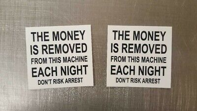 2 Vending Pepsi Coke Drink Snack Machine Money Removed Nightly Decal Sticker