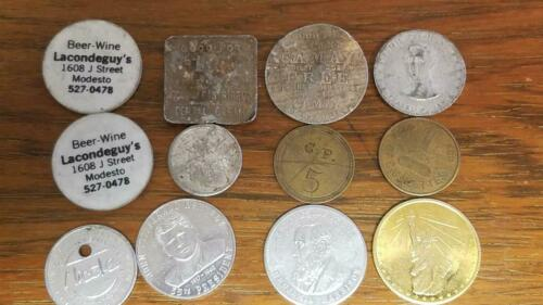 A VARIETY OF 12 TOKENS,GOOD FOR,SOAP,GAMING   L403