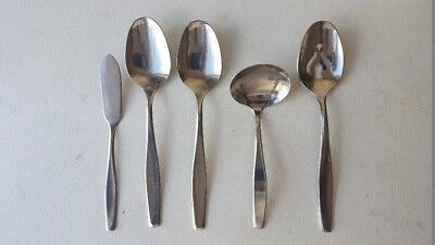 5 Pc American Stainless(International Silver) AMERICAN CHARM -Serving Flatware