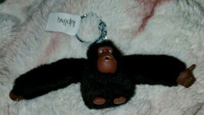 Kipling Sven Monkey Keychain keyring key fob charm BLACK