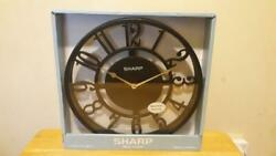 NEW Sharp Quartz Bold Black See Through Contemporary Modern Style Wall Clock