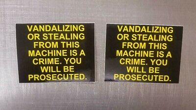 2 Vending Pepsi Coke Drink Snack Machine Vandalizing Stealing Decal Sticker