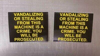 2 Vending Pepsi Coke Drink Snack Machine Vandalizing Stealing Decal Sticker