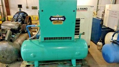Used 10 Hp Saylor Beall  Rotary Compressor Enclosed