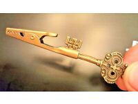 Vintage Owl Eyes Key Roach Clip and Bottle Opener Combo-Hand Crafted