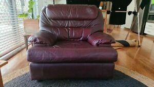 leather armchair, super-comfy