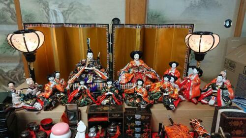 LOT of 18 Vintage Japanese Hina / Samurai doll in Kimono lot Royal Wedding Style