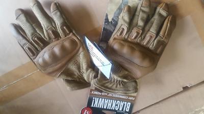 Medium Unisex M Blackhawk Fury Commando  Nomex Tactical Gloves Tan Military