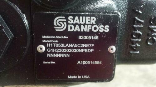 Sauer Dan Foss New 83005145 Hydraulic Pump H1to53(free Shipping)