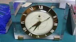 Vintage Telechron  7H141 Electric Alarm clock Works Thick Acrylic & Brass
