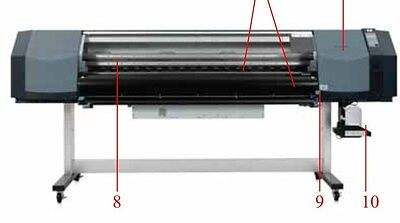 Hp Designjet 8000s Front Cover Lift Up Window Q6670-60008