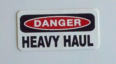 3 - Danger Heavy Haul Trucker Oilfield Hard Hat Toolbox Lunch Box Helmet Sticker