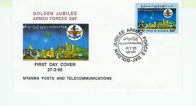 Burma  Myanmar FDC 1985 Armed Forces Day