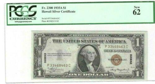 FR 2300 1935A HAWAII $1 PCGS 62 NEW!