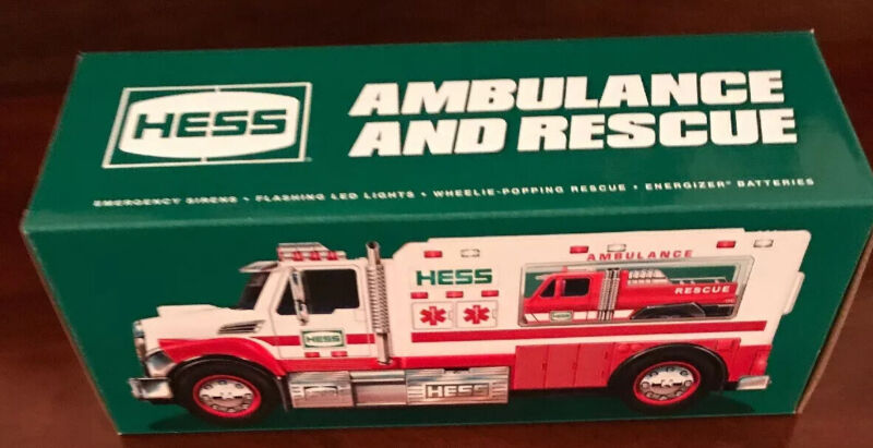 2020 Holiday Hess -Ambulance and Rescue-Toy Truck- Ready To Ship
