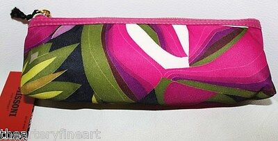 Missoni X Target 'passione Floral' Cosmetic Pencil Case Purple, Zippered