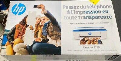 HP DeskJet 3755 All-in-One Printer Print, Copy, Scan - Blue