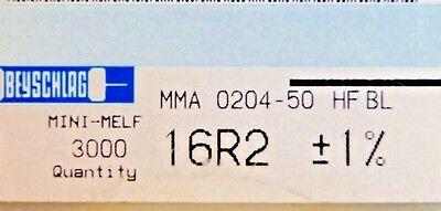 1000pcs Resistor Smd 16.2 Ohm Minimelf 50ppm 1 0.4w Mma020450bl 16r2 Beyschlag