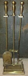 Solid brass Fireplace Tool Set