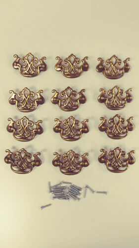 Set of 12 Reproduction Colonial Chippendale Style Dresser Drawer Pull Handles