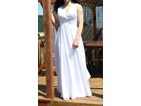 White Prom Evening Bridesmaid Dress