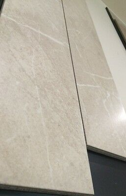 LATEST TREND- planked cream marble porcelain floor & wall tiles 6 sq m