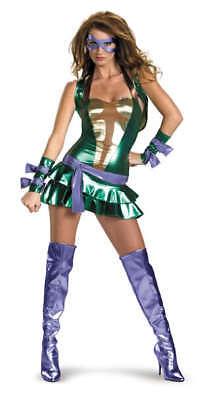 Damen Erwachsener Reiz Tmnt Deluxe Donatello Turtles - Donatello Kostüme