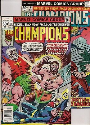 54 ALL MARVEL/DC COMICS back to the 70's: CHAMPIONS  #11-12, HULK, BATMAN, S.S.