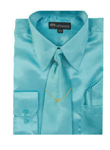 aqua blue mens dress shirt ebay