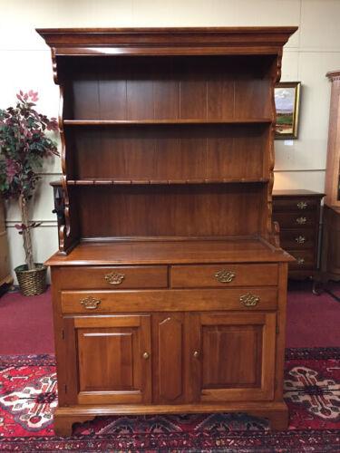 Vintage Statton Solid Cherry Hutch Cabinet or Server - Statton Trutype America