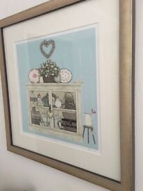 "Framed print- ""vintage cupboard"" by Sally Swannell"