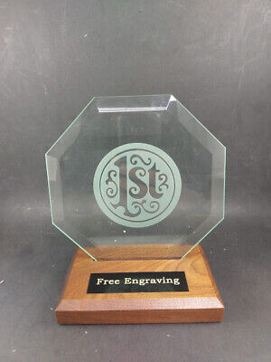1st Place Glass Trophy Corporate Award. Free engraving. ()