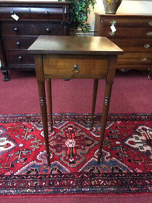 Tall Antique One Drawer Stand - Antique Work Table - Delivery Available One Drawer Stand