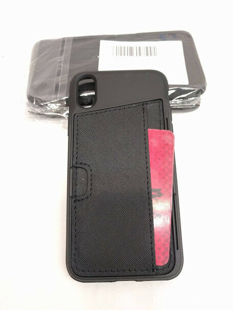 Silk 'WALLET' CC slot Phone case for Iphone X Black Onyx