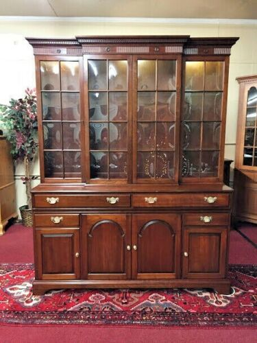 Pennsylvania House Federal Style China Cabinet - Bubble Glass - Delivery Availab