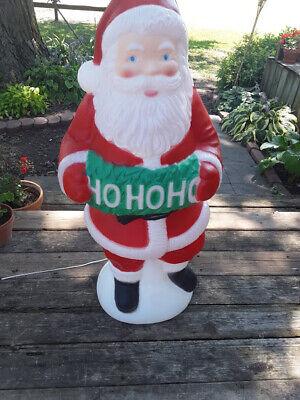 "Vintage Christmas TPI 41"" HoHoHo Lighted Blow Mold Santa Yard Decoration"