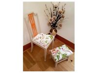 Sturdy Country Side Vintage Birds Chair and Stool - Free Delivery