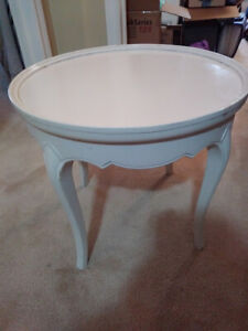 Solid Oak White French Provincial Table $40