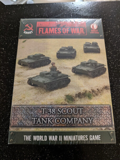FLAMES OF WAR SOVIET T-38 SCOUT TANK COMPANY SBX27 WWII New