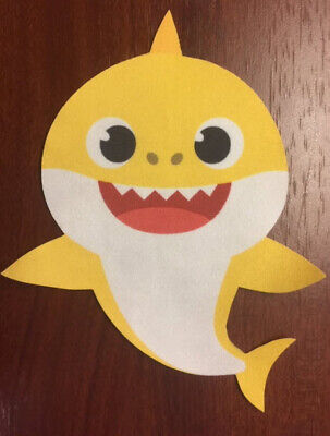 BABY SHARK DooDooDoo fabric iron-on applique NO SEW 1 pc yellow fish from song No Sew Applique