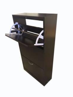 Brand New Dark Brown Shoe Cabinet Organizer (SC003)