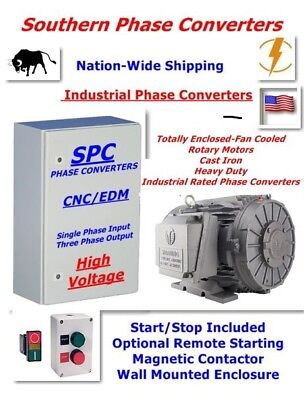 30 Hp Rotary Phase Converter-industrial Cnc Grade-extreme Duty Tefc