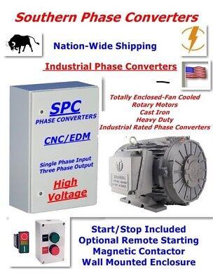 10 Hp Cnc Rotary Phase Converter-super Heavy Duty--cast Iron Tefc Rotary Motor