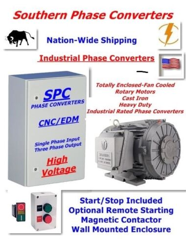 15 HP CNC Rotary Phase Converter-For Lathes, Mills and Metal Working Equipment