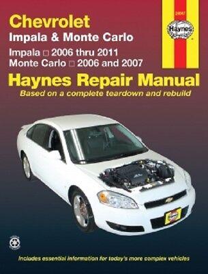 2006-2011 Chevy Impala, 06-07 Monte Carlo Haynes Repair Service Shop Manual - 06 07 Service Manual