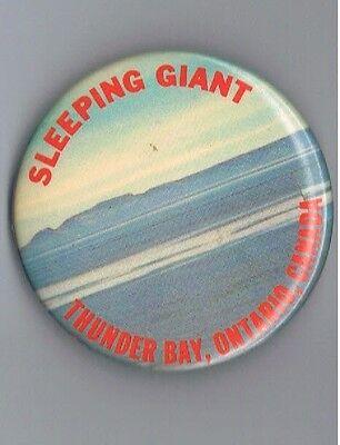 Vintage Thunder Bay Ontario Canada 2 25  Pinback Button Advertising Giant North