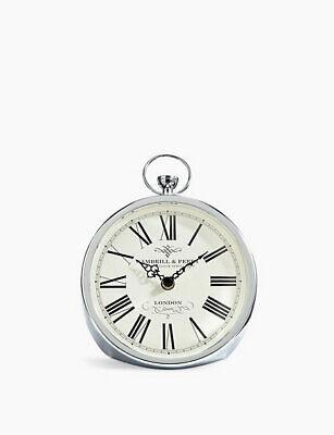 M&S Fob Mantel Clock Silver