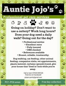 Friendly, professional dog walker, cat feeder, holiday pet and home services. Vet transport.